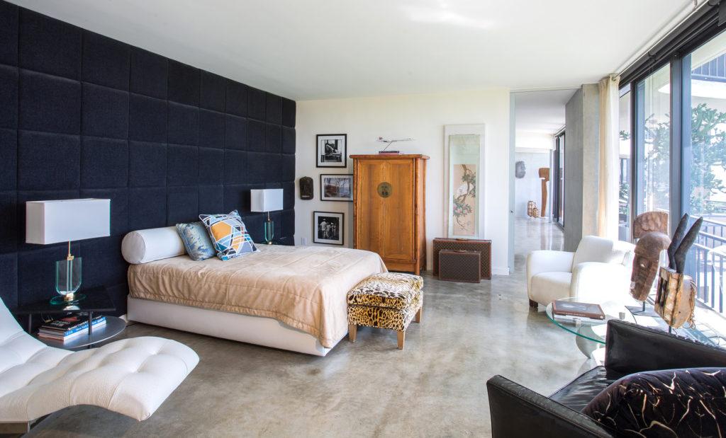 Bedroom of Interior designer Kevin Gray's condo| Kevin Gray Design