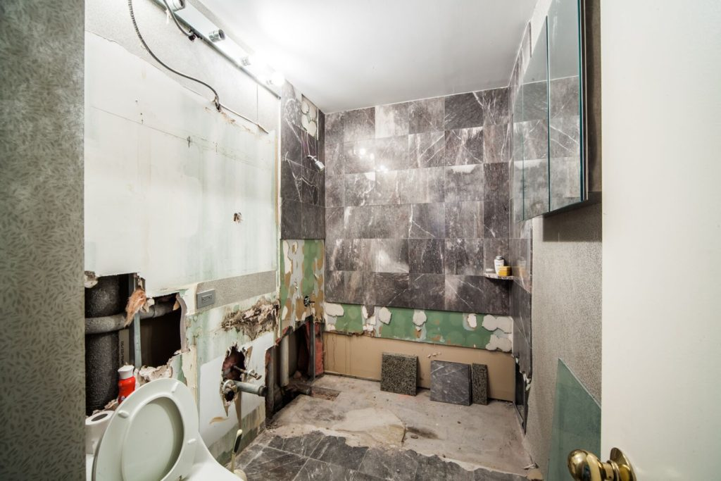 Guest Bath DEMO UES condo conversion | Kevin Gray Design