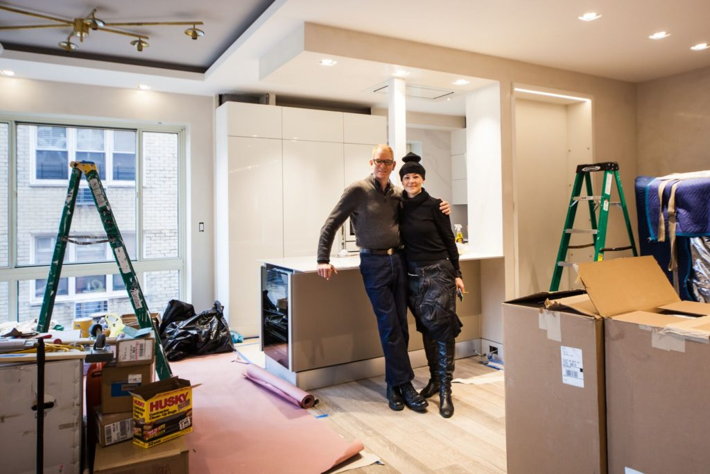 Interior designer Kevin Gray and design assistant Ullie | MOVE IN UES condo conversion | Kevin Gray Design