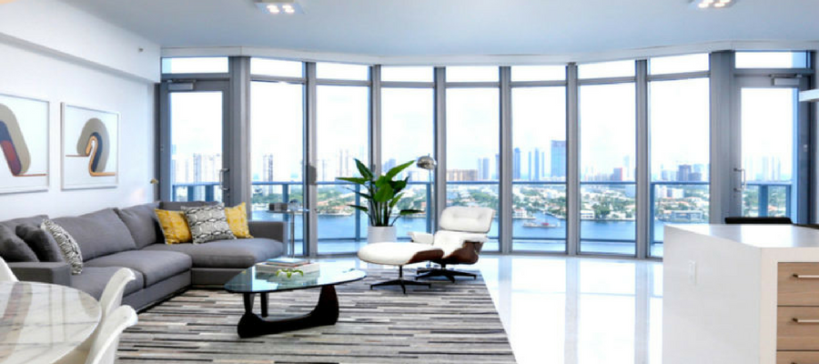 Staged by Kevin Gray Design | Luxury North Miami Beach Duplex Rented for $5,000 with Option to Buy