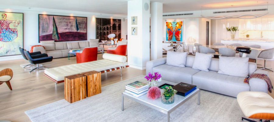 Bay Harbor Islands Art Collectors | Postmodern Interior Design | Kevin Gray Design