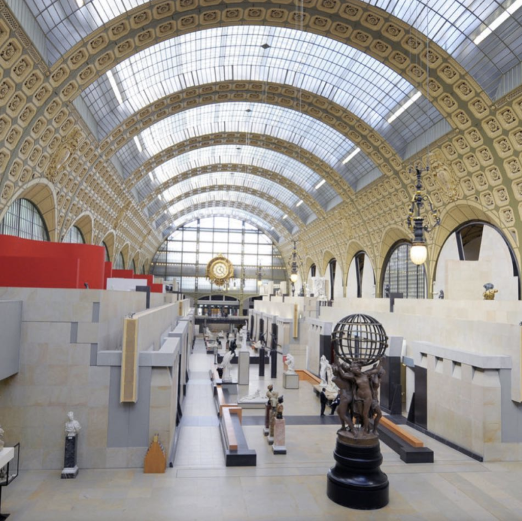 Musée d'Orsay, Paris. Architect Gai Aulenti redesigned an abandoned train station which opened in December of 1986 with criticism and praise with lines of 20,000 visitors a day!