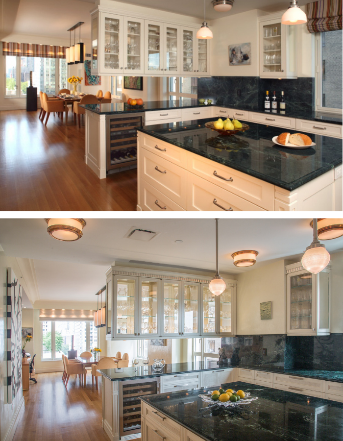 Before and After: 15 Central Park West Kitchen by Kevin Gray Design