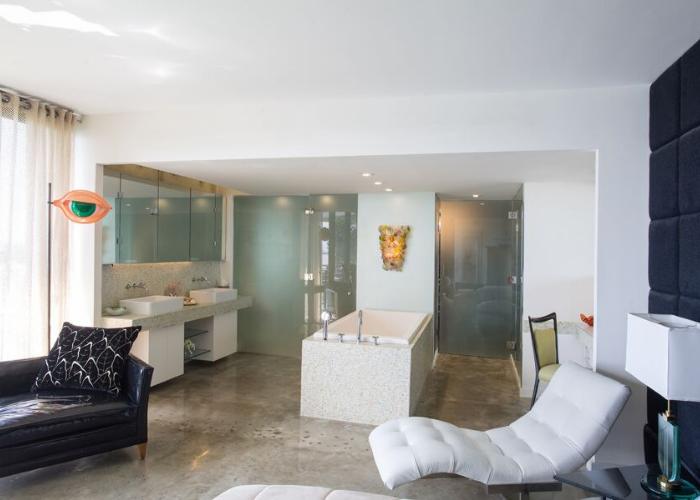 Bathroom Gut Remodel in Interior Designer Kevin Gray's Palm Bay Miami Beach Condo