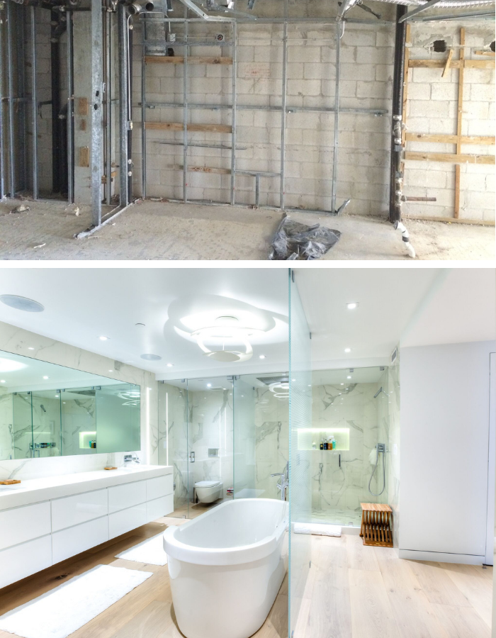 Before and After | Bay Harbor Bathroom by Kevin Gray Design