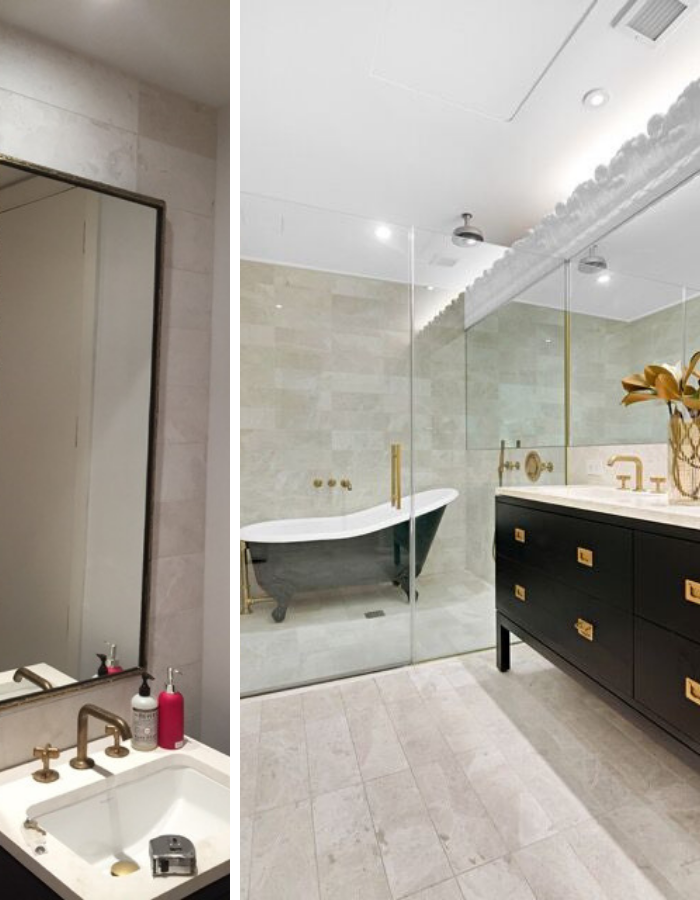 Before and After: Tribeca Loft Bathroom by Kevin Gray Design