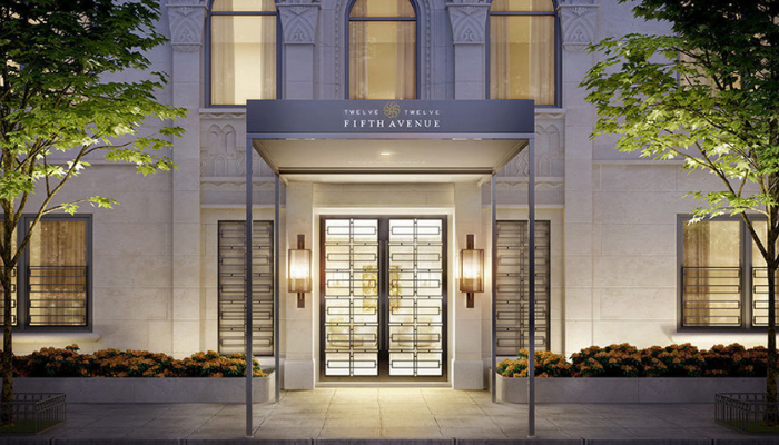 Entrance 1212 Fifth Avenue NYC Styled by Kevin Gray Design