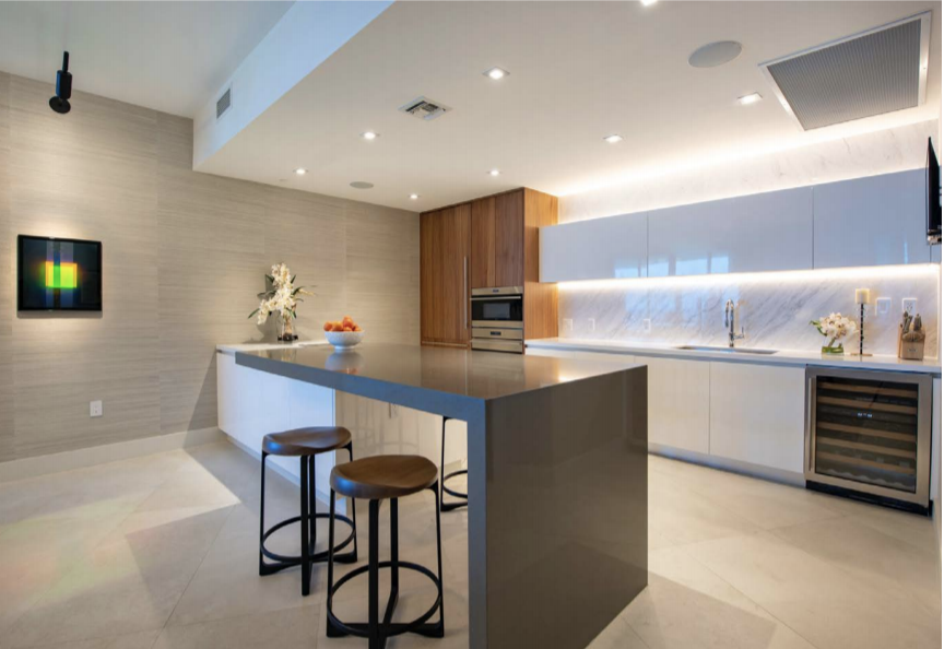 Kitchen | Paramount Residences Fort Lauderdale Rebuild and Redecoration by Kevin Gray Design