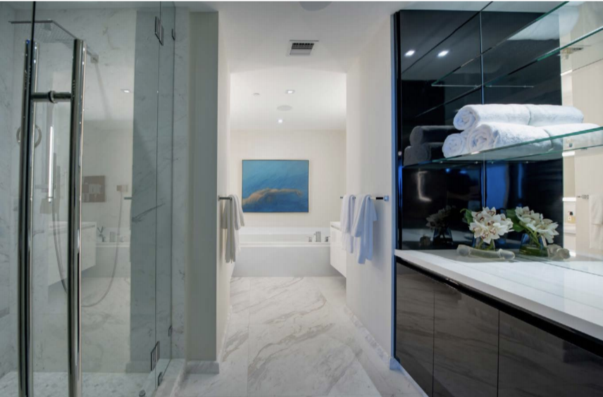 Master Bathroom | Paramont Fort Lauderdale Rebuild and Redecoration by Kevin Gray Design