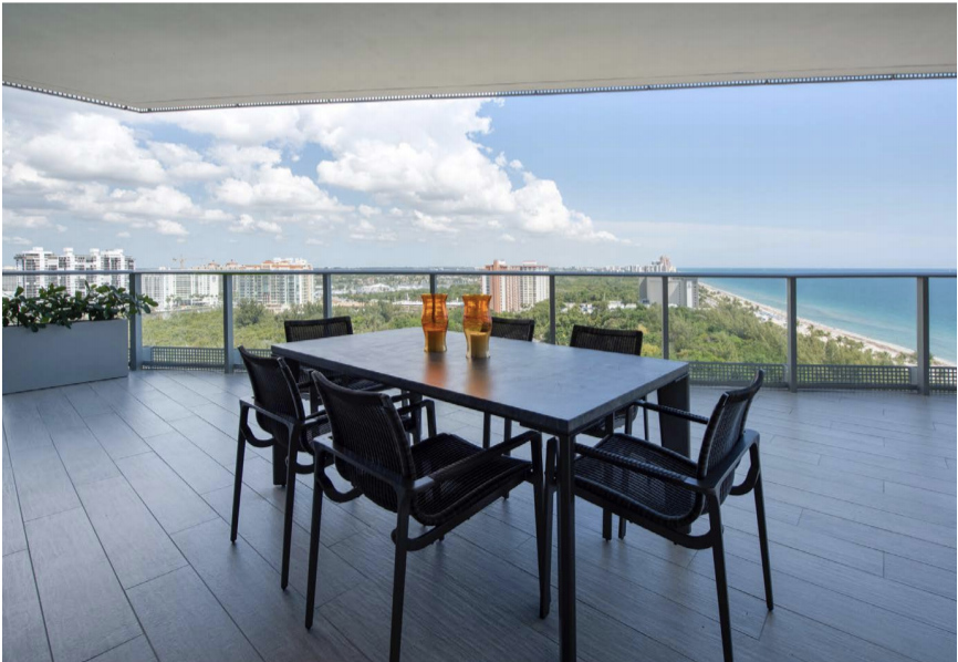 Terrace | Paramount Residences Fort Lauderdale Rebuild and Redecoration by Kevin Gray Design