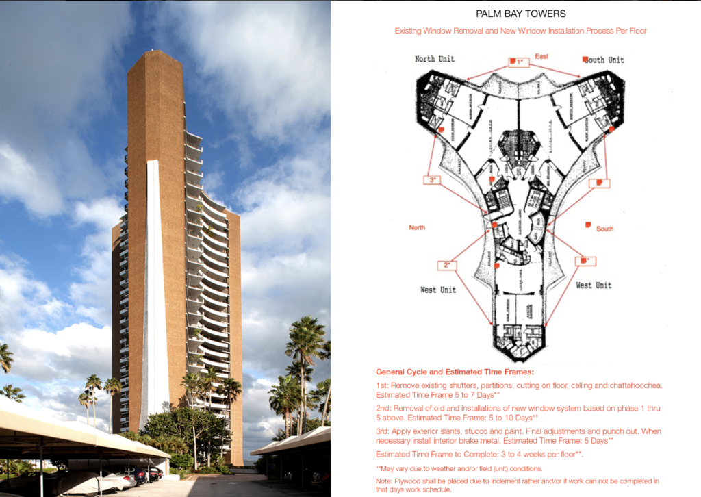 Palm Bay Towers Hurricane Window Installation by KGD